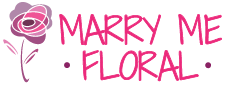 Marry Me Floral Retina Logo