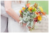 Flowers by Marry Me Floral, McHenry, for Aryn & Adam's 2017 wedding at Byron Colby Barn in Grayslake, IL