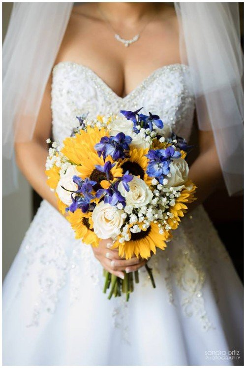 Flowers by Marry Me Floral, McHenry, for Brook & Shane's 2017 wedding at The Lincolnshire Marriott in Lincolnshire, IL