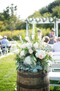 Flowers by Marry Me Floral, McHenry, for Hannah & Mike's 2017 wedding in Twin Lakes, WI
