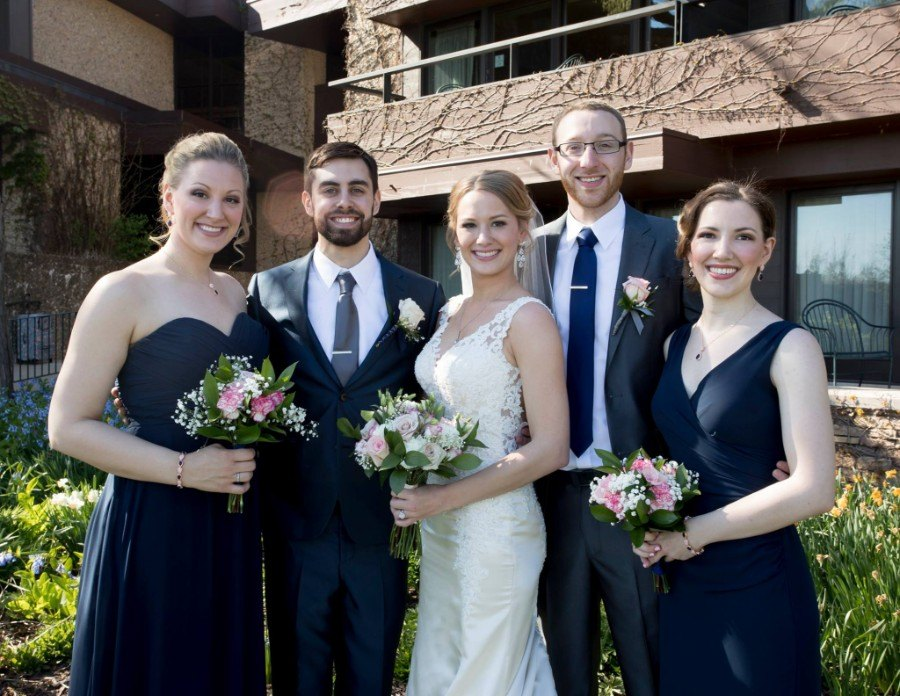 Flowers by Marry Me Floral, McHenry, for Molly & Kendall's 2017 wedding at the Grand Geneva in Lake Geneva, WI
