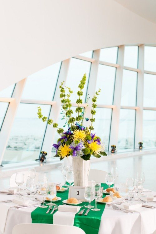 Flowers by Marry Me Floral, McHenry, for Sean & Kendall's 2017 wedding at the Milwaukee Art Museum in Milwaukee, WI