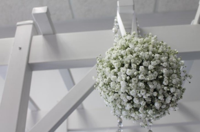 Beatrix winter collection babys breath pomander ball