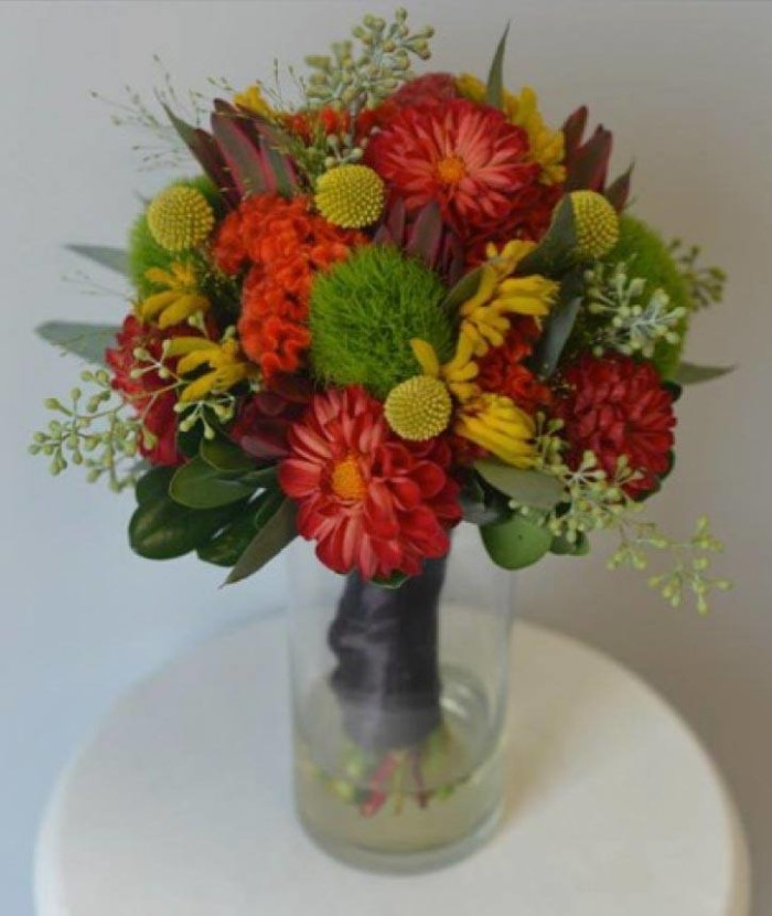 Brianna fall collection bridesmaid bouquet