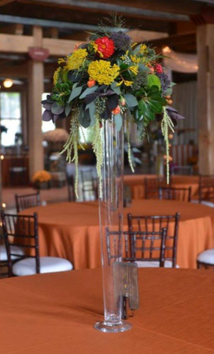 Brianna fall collection tall cylinder centerpiece