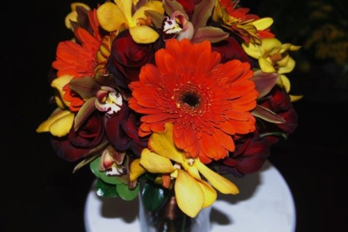 fall collection bridesmaid bouquet