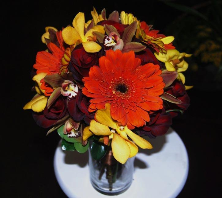 fall collection bridesmaid bouquet