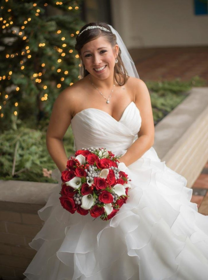 Nicole winter collection bride bouquet