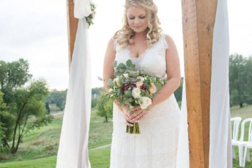 Trish just picked collection bride bouquet