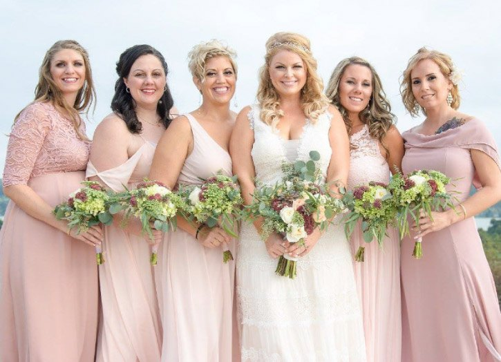 Trish just picked collection bride & bridesmaid bouquet